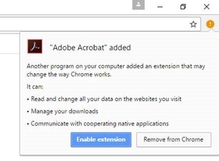 Uninstalling Acrobat Reader DC removes Adobe Acrobat extension from