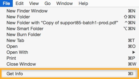 How to open a PDF file on Mac. Option #1