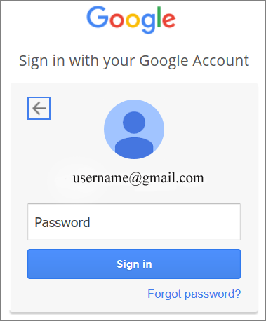 google drive forgot password