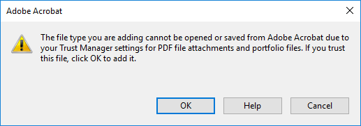 File attachment warning dialog
