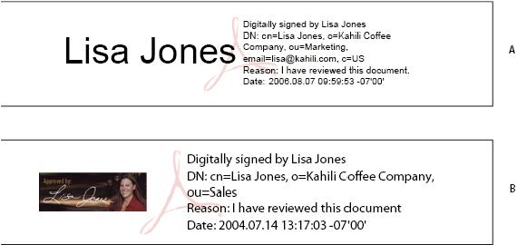 Certificate-based signatures, Adobe Acrobat