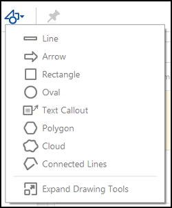 Drawing tools menu in Acrobat