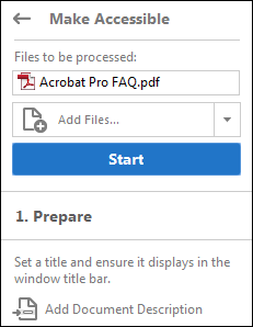 Make PDFs accessible