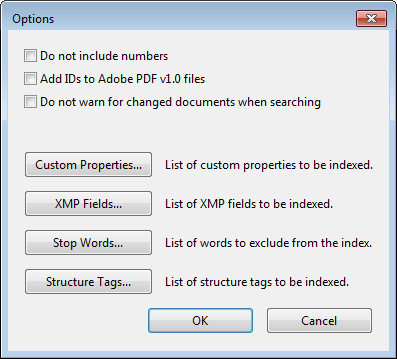 The Options Dialog Box in Acrobat