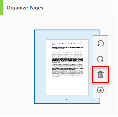 How to delete pages from PDF