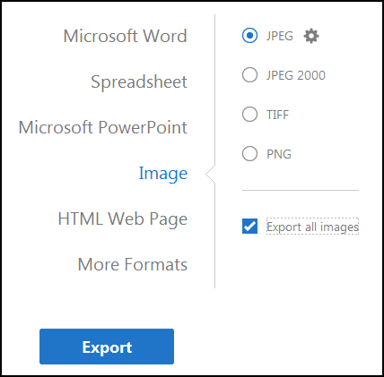 Export to Image Options