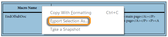 Export selection in Acrobat