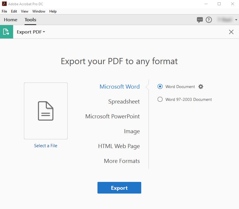 File Format Options For Pdf Export Adobe Acrobat
