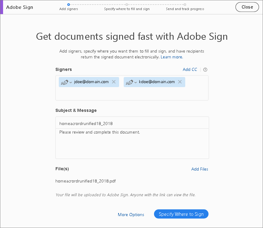 Fill and sign PDF forms using Adobe Acrobat Fill & Sign