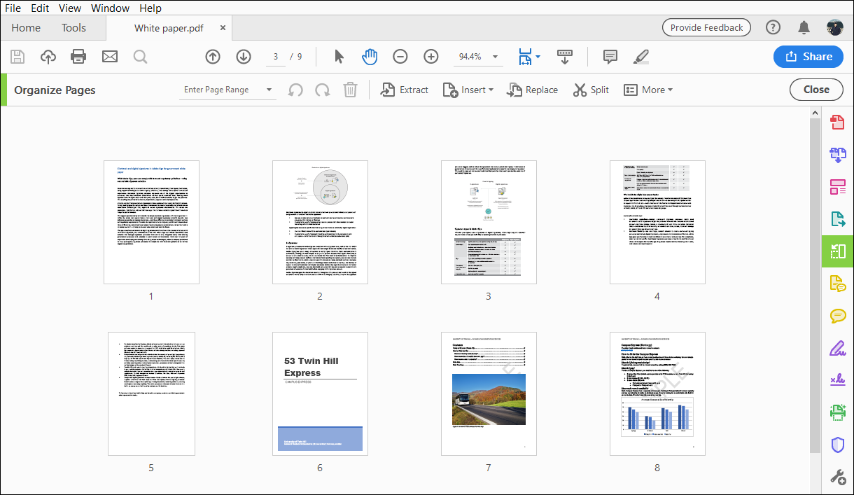 Rotate, move, delete, and renumber PDF pages in Adobe Acrobat
