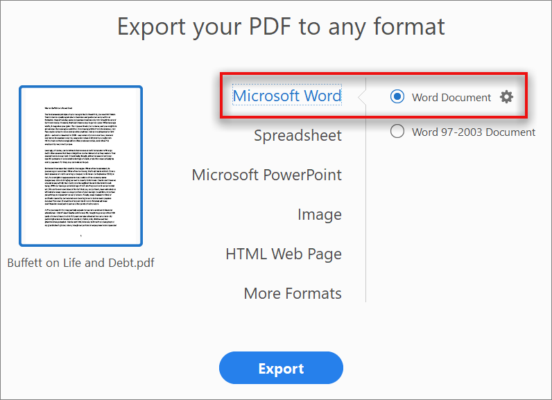 convert pdf to word file free