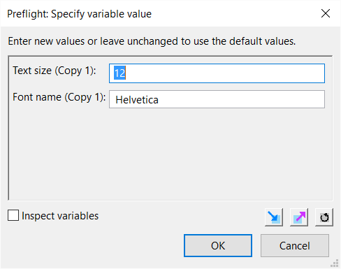 Specify variable value