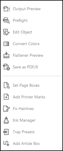 Print Production Tools in Acrobat