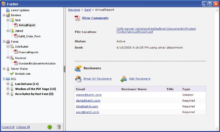 Tracker overview