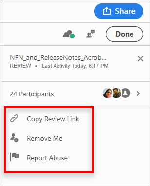 Reviewer options