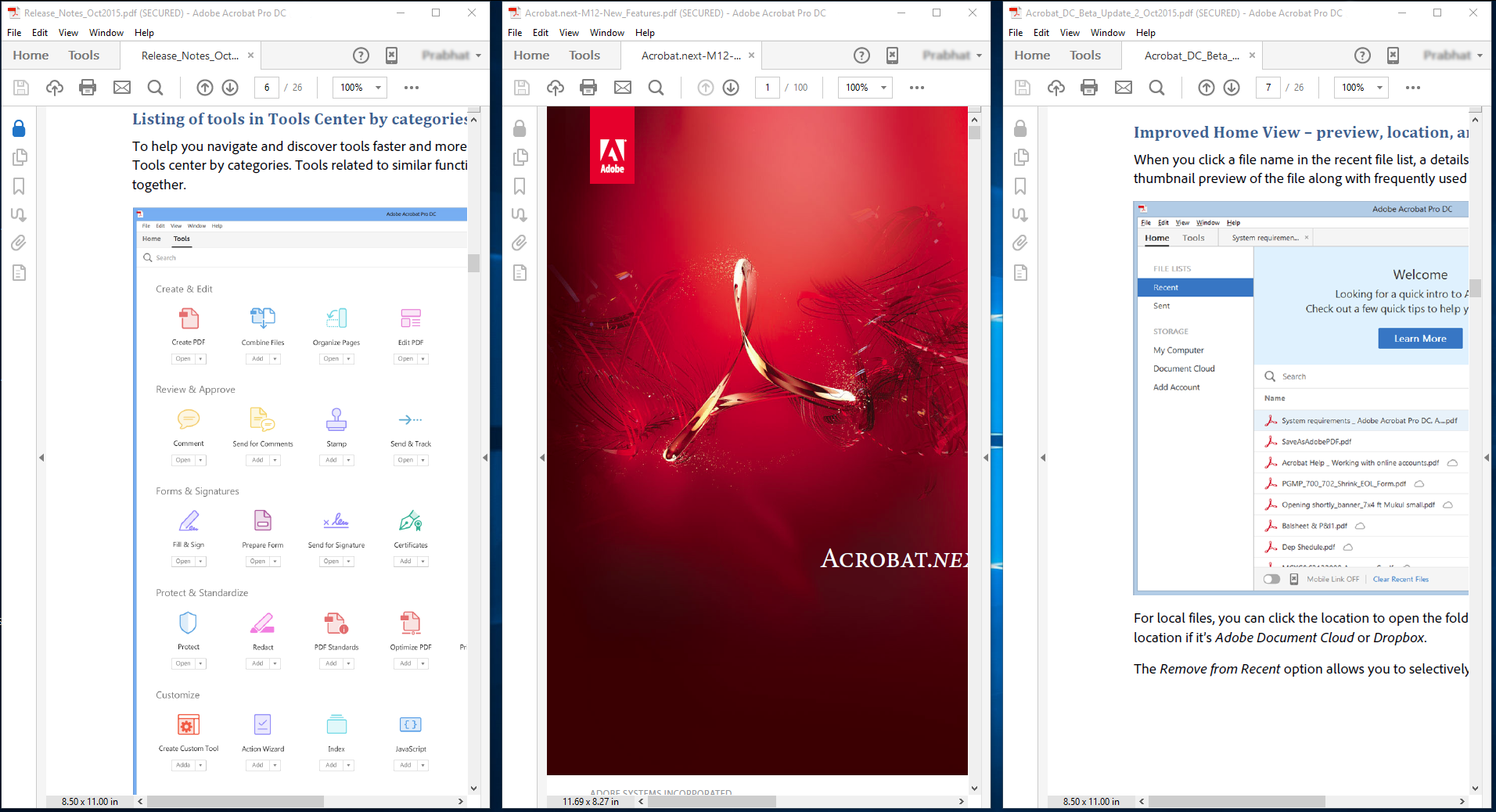 Tile Vertically example in Acrobat