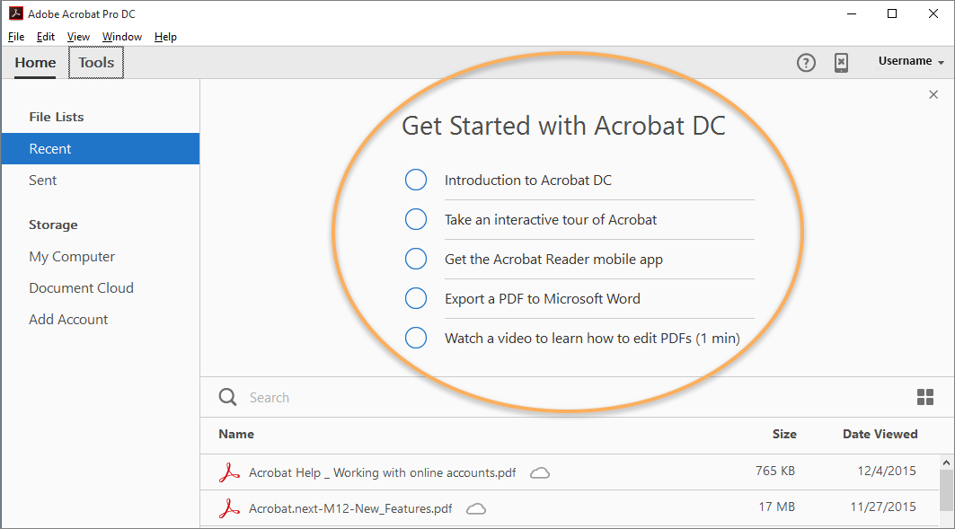 Get started with Acrobat