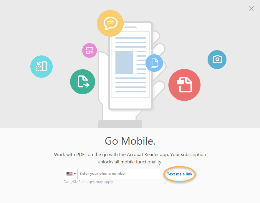 Get Acrobat Reader on your mobile device