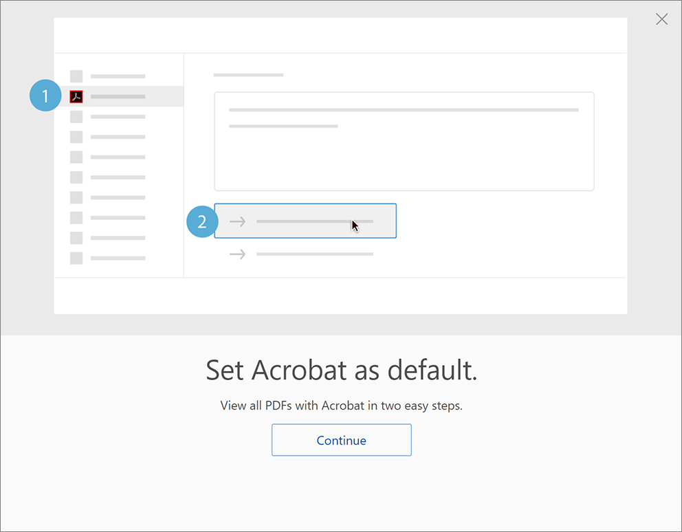 Set Acrobat as default