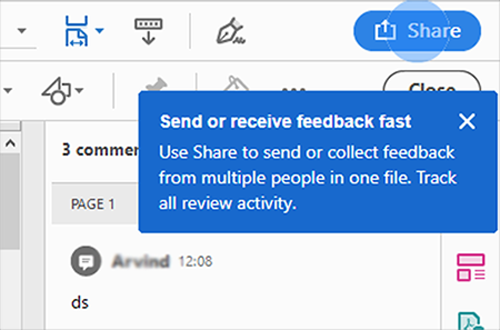 Acrobat tip to share for review