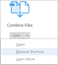 Choose Remove Shortcut in Acrobat