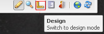 Switch to Design more from AEM sidekick