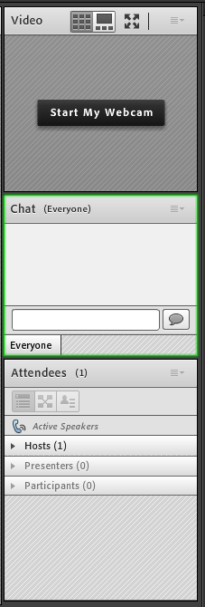 Chat pod is highlighted by a colored border when navigating using keyboard