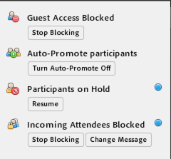 In-meeting notifications available upon clicking Info.
