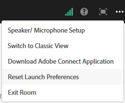 Reset launch preferences