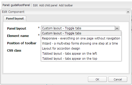 Custom Panel layout shows up in the panel layout list