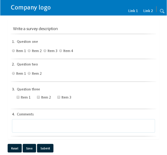A form using responsive layout as seen on a small screen