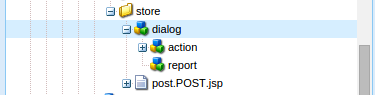 Screenshot showing the copying of the dialog node to the action folder