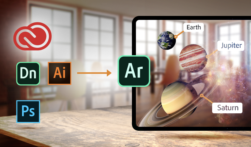 You can import your own assets into AR with Adobe Aero