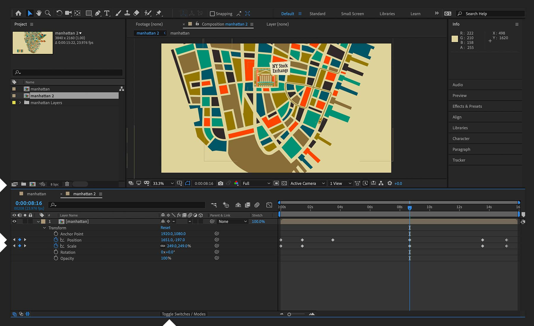 Map animation in After Effects | Adobe After Effects tutorials