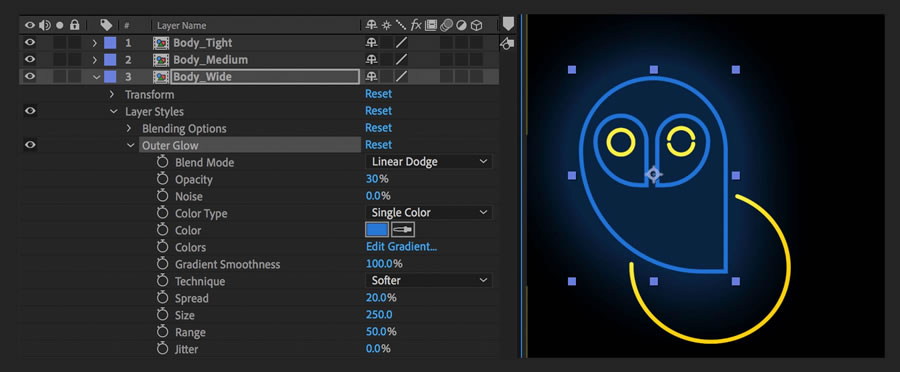 Create neon glow effects | Adobe After Effects tutorials