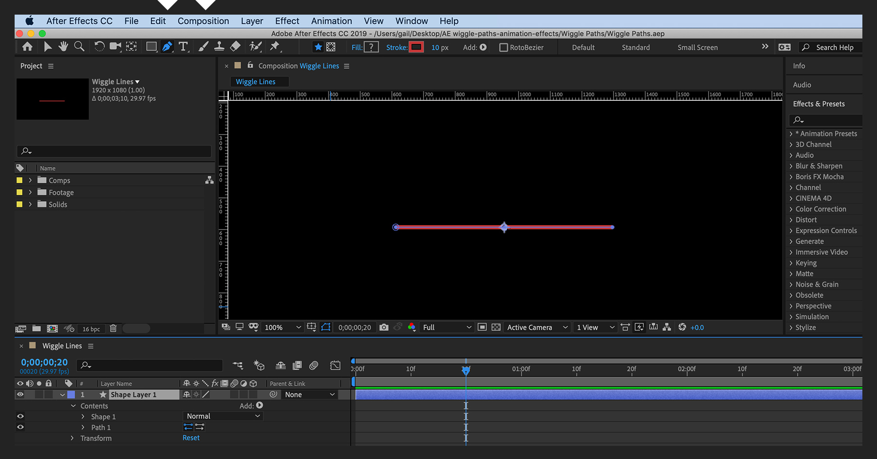 Create wiggle path animation effects | Adobe After Effects