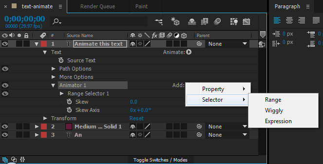 Adding a new range selector
