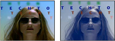 Tint effect-Original (left), and with effect applied (right)