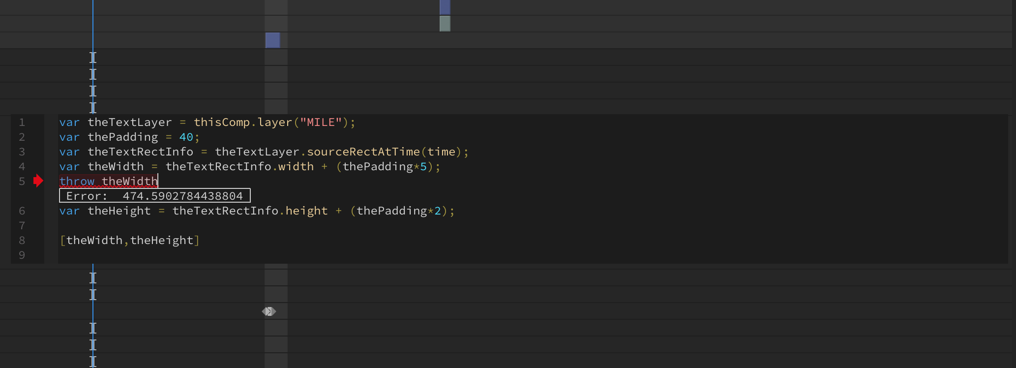 Throw to debug expressions inline