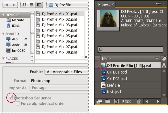 Preparing and importing still images in After Effects