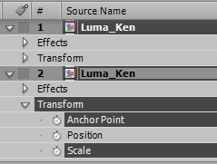 Top layer selected, but no properties selected; bottom layer selected with properties selected