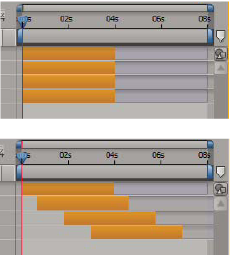 Layers selected in Timeline panel
