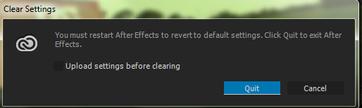 Clear Sync Settings dialog box