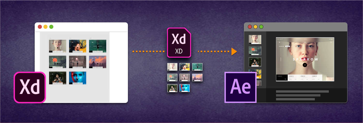 Export to After Effects from Adobe XD