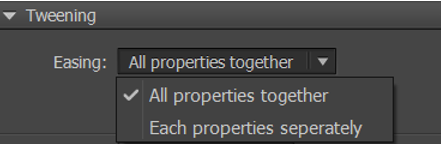 Tweening properties