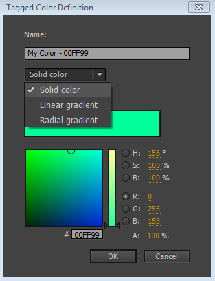 Color Panel in Animate CC