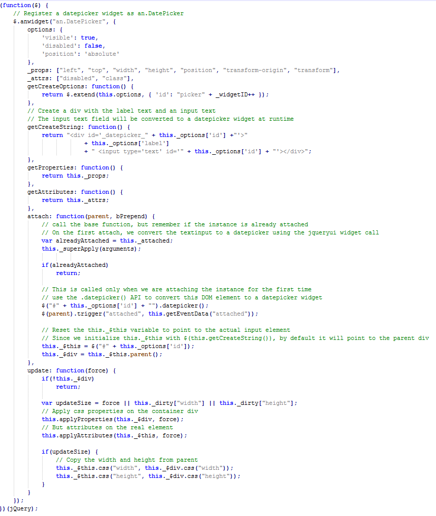 Example of a HTML5 custom component