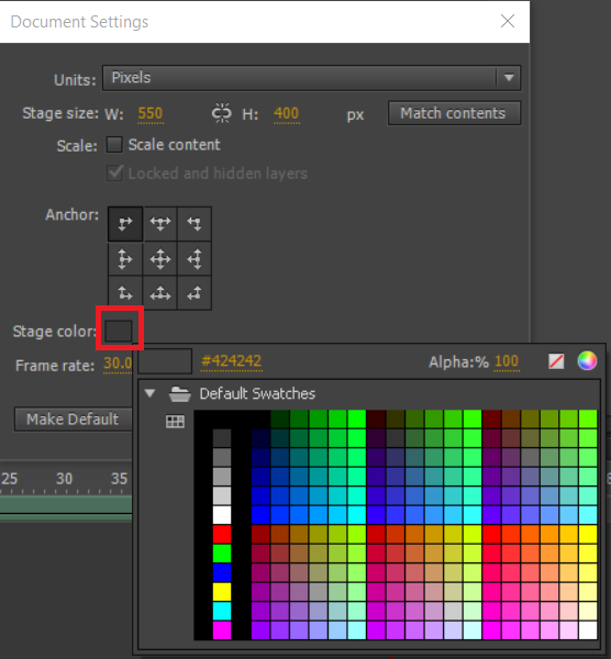 Create HTML5 Canvas documents in Animate