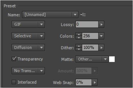 Export image and animated GIF options