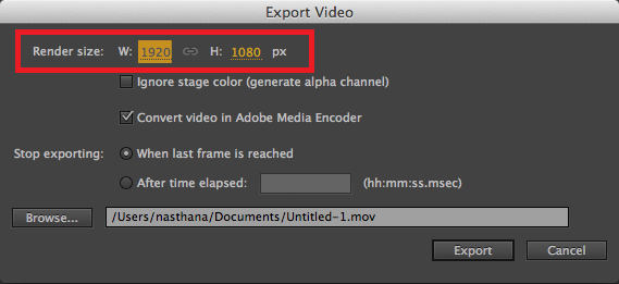 Export High-Res Videos
